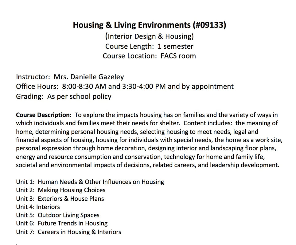 Interior Design U0026 Housing Syllabus